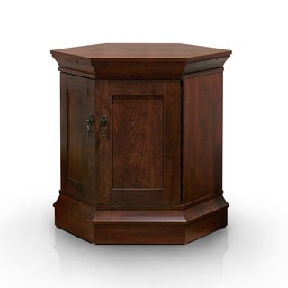 Furniture of America Elliotte Vintage Walnut End Table