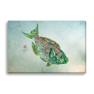 Gallery Direct Dwight Hwang 'Parrot Fish' Canvas Art