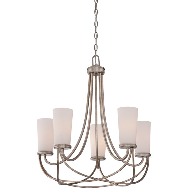 Quoizel Millbank 5-light Vintage Gold Chandelier