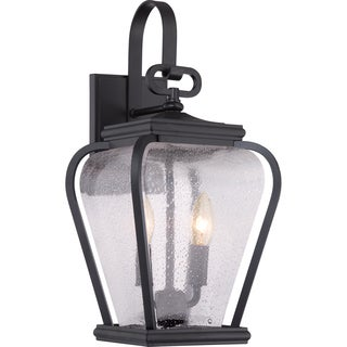 Province Mystic Black 2-light Medium Wall Lantern