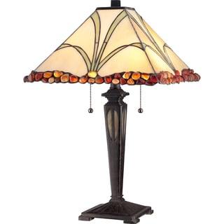 Tiffany Holcomb Imperial Bronze Finish 2-light Table Lamp