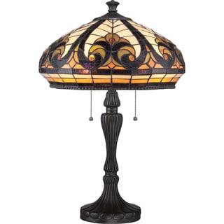 Tiffany Grand Bay Vintage Bronze Finish 2-light Table Lamp