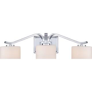 Devlin Polished Chrome Three-Light Bath Fixture