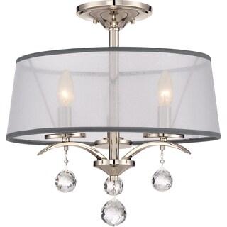 Whitney Imperial Silver Semi-Flush Mount
