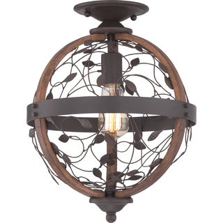 Chamber Dark Bronze Small Flush Mount