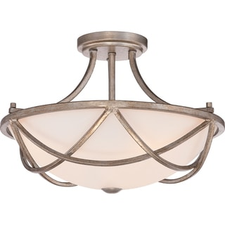 Milbank Vintage Gold Large Semi Flush Mount