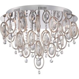 Platinum Collection - Ella 18-light Polished Chrome Flush Mount