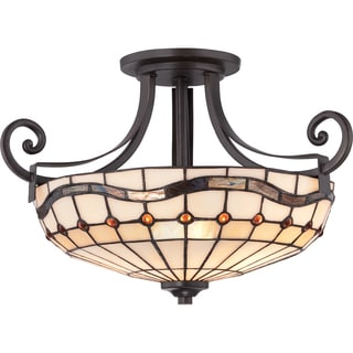 Dayton 2-light Imperial Bronze Semi Flush Mount