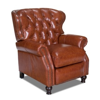 Cambridge Leather Recliner in Barstow Cognac