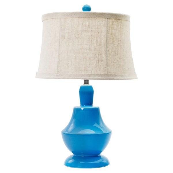 Peacock Blue 24.5-inch Ceramic Table Lamp