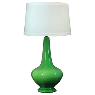 Jewel Green Crackle 30-inch Ceramic Table Lamp