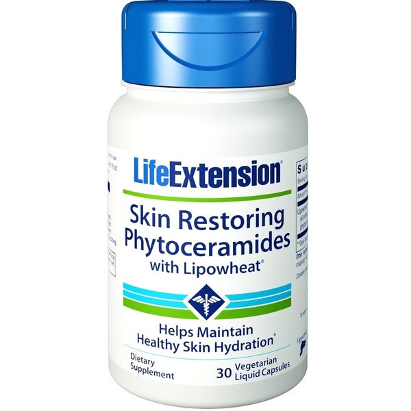 Life Extension Skin Restoring Phytoceramides With LipoWheat (30 Vegetarian Liquid Capsules)