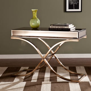 Upton Home Annabelle Champagne Mirrored Sofa/ Console Table
