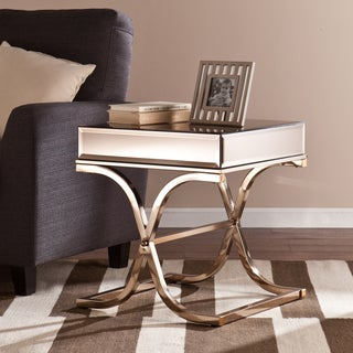 Upton Home Annabelle Champagne Mirrored Side/ End Table