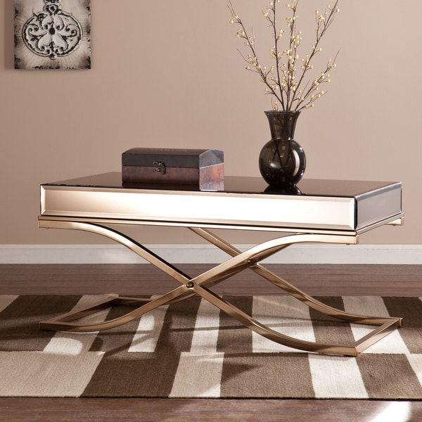 Upton Home Annabelle Champagne Mirrored Coffee/ Cocktail Table