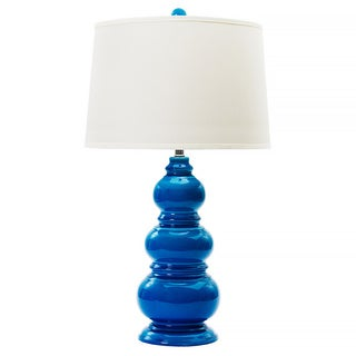 Turquoise Crackle 30-inch Ceramic Table Lamp