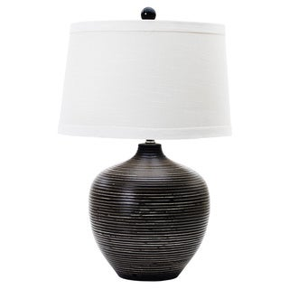 Indigenous Brown 22.5-inch Ceramic Table Lamp