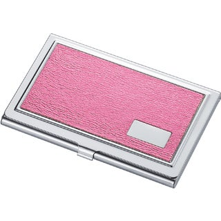 Visol Lorena Hot Pink Synthetic Leather Business Card Case for Ladies