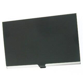 Visol Black Cover Aluminum Business Card Case