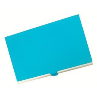 Visol Light Blue Cover Aluminum Business Card Case