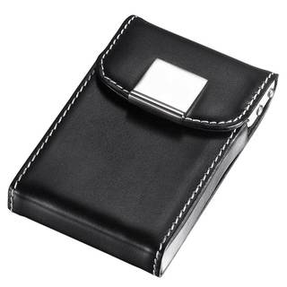 Visol Pristine Black Leather Business Card Case