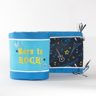 Pam Grace Creations 4-Piece Rockstar Crib Bumpers