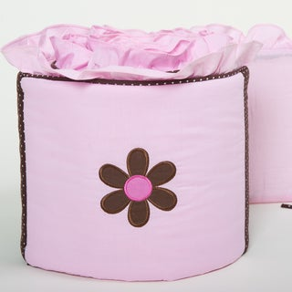 Pam Grace Creations 4-Piece Pam's Petals Crib Bumpers