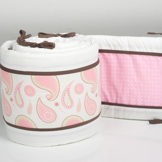 Pam Grace Creations 4-Piece Pam's Paisley Crib Bumpers