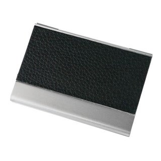 Visol Black Leather and Aluminium Business Card Holder