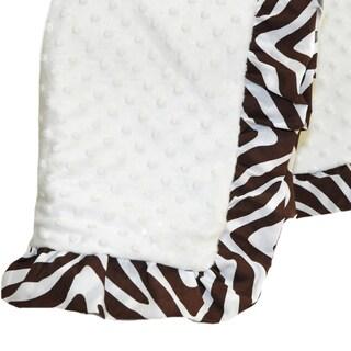 Pam Grace Creations Zara Zebra Chenille Baby Blanket