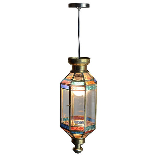 Decorative Crane Gold Elegant Tiffany Style Hanging Pendant Lamp