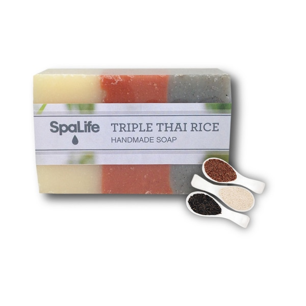 Spa Life Hand-made Triple Thai Rice Soap (Pack of 2)