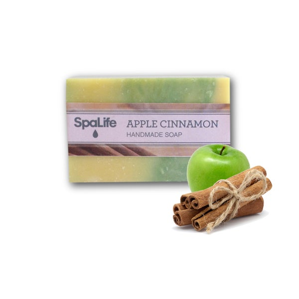 Spa Life Hand-made Apple Cinnamon Soaps (Pack of 2)