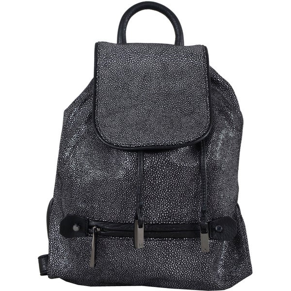 Halston Heritage Black Leather Backpack