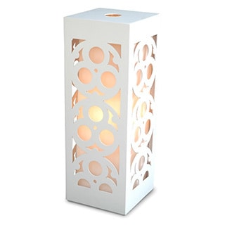 Decorative Ava White Geometric Transitional Table Lamp