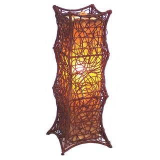 Decorative Callao Brown Geometric Transitional Table Lamp