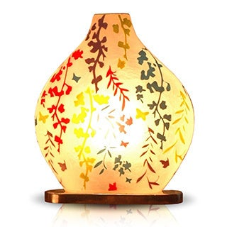 Decorative Lenexa Off-white Floral Transitional Table Lamp