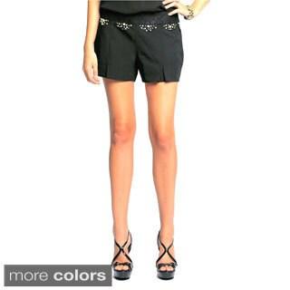 Sara Boo Embroidered Shorts