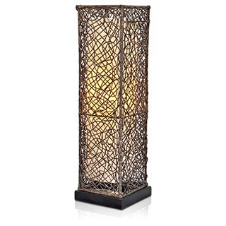 Decorative Chula Brown Geometric Transitional Table Lamp