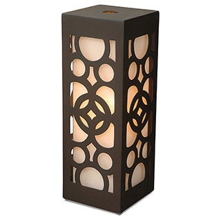 Decorative Amsterdam Brown Geometric Transitional Table Lamp