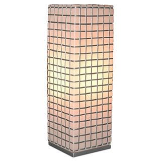 Decorative Atchison Off-white Geometric Transitional Table Lamp