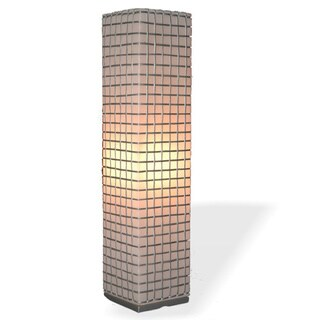 Decorative Amherst Off-White Geometric Transitional Floor Lamp