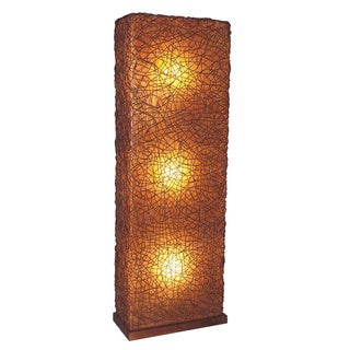 Decorative Dudley Brown Geometric Transitional Floor Lamp