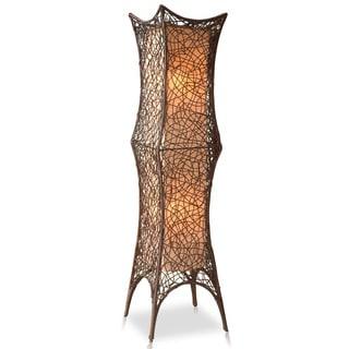 Decorative California Brown Geometric Transitional Floor Lamp