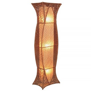 Decorative Pittsburg Brown Geometric Transitional Floor Lamp
