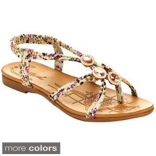 Miim Blossom-02 Women's Free Spirit Criss Cross Multi Strap Sandals