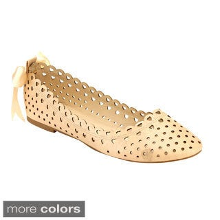 Miim Eve-01 Women's Lasercut Low Heel Flats