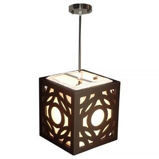 Decorative Annapolis Brown Geometric Transitional Hanging Pendant Lamp