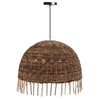 Decorative Clever Brown Geometric Transitional Hanging Pendant Lamp