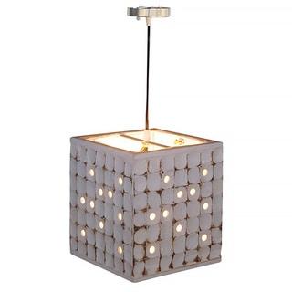 Decorative Calhoun White Geometric Transitional Hanging Pendant Lamp